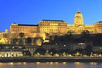 Buda Castle at Dusk, Budapest, Hungary.