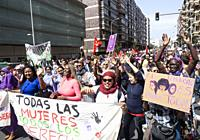 Las Palmas, Gran Canaria, Canary Islands, Spain. 8th March 2020. Thousands turn out for International Women's day march in Las Palmas, the capital of ...