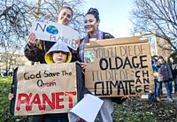 Newcastle upon Tyne, England. UK. 29th November, 2019. Climate change protest in Newcastle upon Tyne.