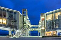 Santander, Cantabria, Spain. Centro Botín art gallery, designed by Pritzker Prize-winner architect Renzo Piano.