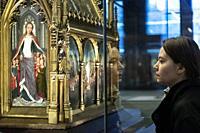 The Shrine of St. Ursula. Saint Johnâ. . s Hospital Museum. Bruges. Belgium.