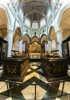 Tombs of Mary of Burgundy and Charles the Bold in the Church of Our Lady. Bruges. Belgium.