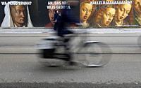 Street poster of the Van Eyck 2020 commemoration. Ghent. Belgium.
