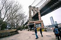 Brooklyn bridge from Dumbo, Brooklyn, NY.