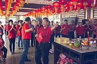 Sarawak Chai's Clan paying homage to the Chai's Clan ancestors at Kuching, Malaysia