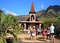 Roman Catholic church in Vaitahu, Tahuata, Marquesas, French Polynesia.