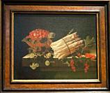 'still life with strawberris in a bowl', 1695, adriaen coorte