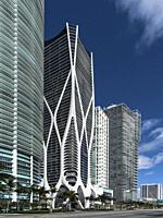 Biscayne Boulevard Buildings. Miami.