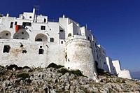 Walled city of Ostuni, Puglia, Italy.
