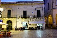 Piazza in Lecce, Puglia, Italy.