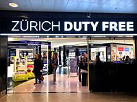 Duty free shop on Zürich airport in Switzerland.