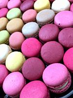 Multiple coloured macarons