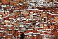 Winter view of Ademuz. Valencia.