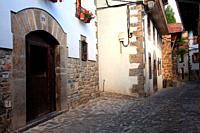 Isaba street. Roncal valley. Navarra.