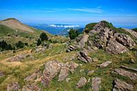 Landscape on the route to Anie peak from Piedra San Martín. San Martín. Larra nature reserve. Navarra.