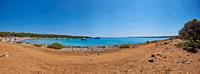 Landscape from the coast at the beach (Spiaggia dei 7 cancelli), Cres, Croatia, Europe