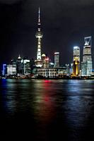 Skyline, cityscape, night scene, Lujiazui, Pudong, Shanghai, China