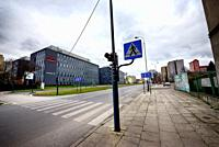 Europe, Poland, Lodz, March 2020, empty streets of city center during the coronavirus pandemic.