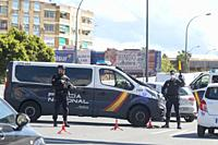 Valencia, Spain, April 1, 2020. The alertness caused by coronavirus (covid-19). The National Police organizes controls at the main entrances to the ci...