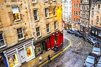 Victoria Street, Old Town, Edinburgh, Scotland, United Kingdom, Europe.