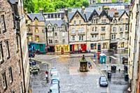 Grassmarket historic market place, Old Town, Edinburgh, Scotland, United Kingdom, Europe.