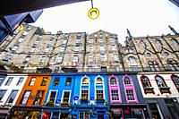Victoria Street, Old Town, Edinburgh, Scotland, United Kingdom, Europe.