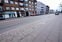 Europe, Poland, Lodz, March 2020, empty streets of city center during the coronavirus pandemic, Piotrkowska street.
