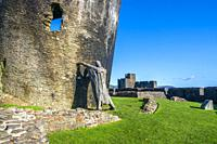 Caerphilly Castle, Wales, United Kingdom, Europe.