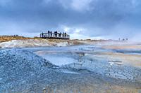 Geothermal field of Hverir, Northwestern Region, Iceland.
