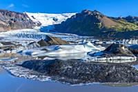 Kvíamýrarkambur Glacier, Eastern Region, Iceland.
