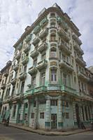 Tenament life; crumbling, decaying colonial buildings in Havana Vieja, Havana, Cuba.