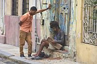 Rasta guy in Havana Vieja, Havana, Cuba.