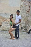 Sexy dancing in Plaza San Francisco, Havana, Cuba.
