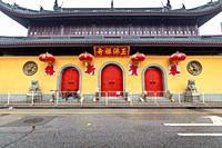 Entrance to the closed Jade Buddha Temple in Shanghai, China.