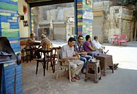 A cafe in Islamic Cairo in the city of Cairo in Egypt in North Africa.