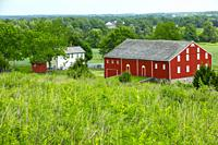 Oak ridge farm and battle site Gettysburg National Civil War Battlefield Military Park Pennsylvania PA.