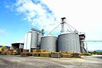 Wheat silos - Tuscany, Italy.