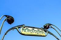 Metropolitain sign - Paris, France.