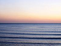 horizon on Tyrrhenian Sea - Lido di Ostia - Rome, Italy.