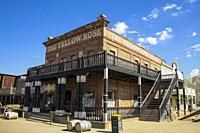 Province of Almería, Andalusia, Spain, Europe. Tabernas Desert (Desierto de Tabernas). . Mini Hollywood film set, western theme park. Far West town. T...