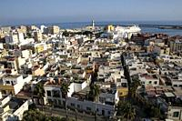 Almería, Andalusia, Spain, Europe. . Panoramic view of the city.