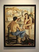 Almería, Andalusia, Spain, Europe. . Doña Pakyta Museum of Art (Museo de arte Doña). Doña Pakyta Museum of Art (Museo de arte Doña Pakyta). Pareja en ...