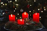 advent wreath, german, european pre-Christmas tradition.