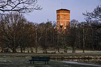 Stockholm, Sweden April 1, 2020 The grounds of the Royal Palace Drottningholm and the Tower Building from 1792.
