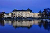 Stockholm, Sweden April 1, 2020 The grounds of the Royal Palace Drottningholm.