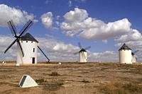 Campo de Criptana (Spain). Windmills next to the town of Campo de Criptana.