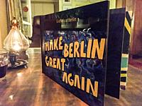 Tilburg, Netherlands. Photo Book: ´Make Berlin Great Again´, with murals and graffitis.