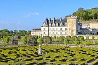 The Chateau of Villandry and its beautiful garden, France.