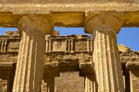 Temple of Concordia in the Valle dei Templi at Agrigento, Sicily, Italy.