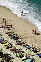 Beach in Tropea, Calabria, Italy.